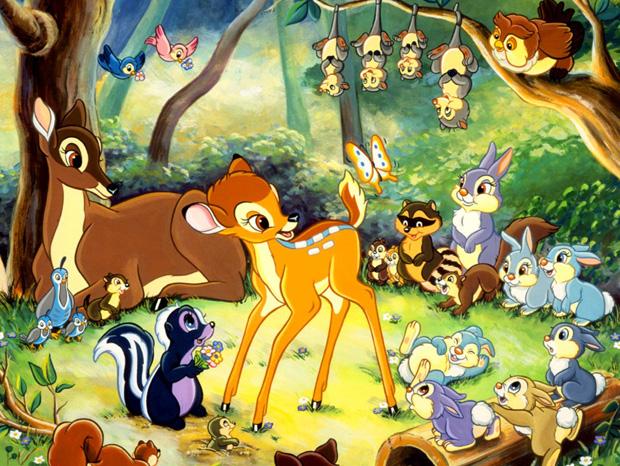 illustrazione bambi